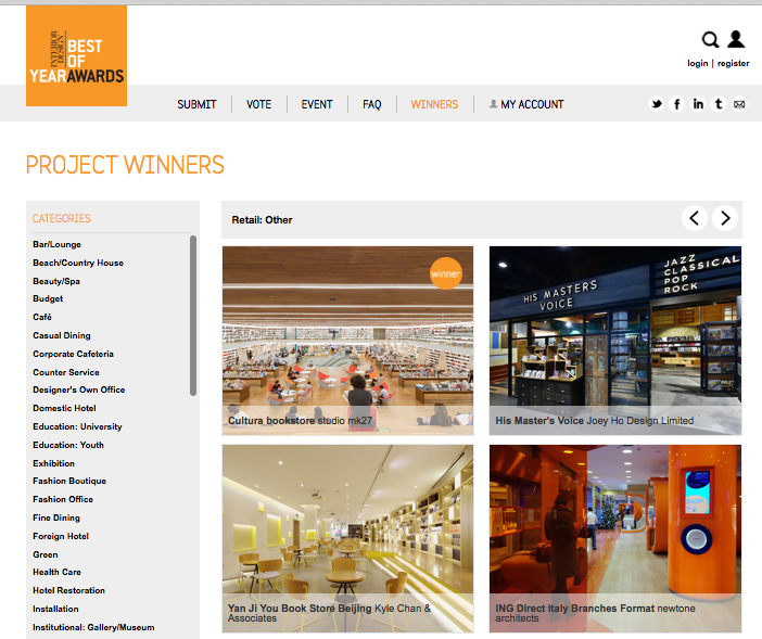 Ing Direct selected for Interior Design's Best Year Awards