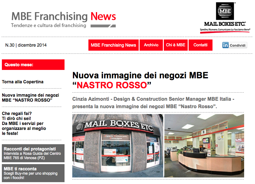 Mail Boxes Etc. – Nastro Rosso – Design by Newtone
