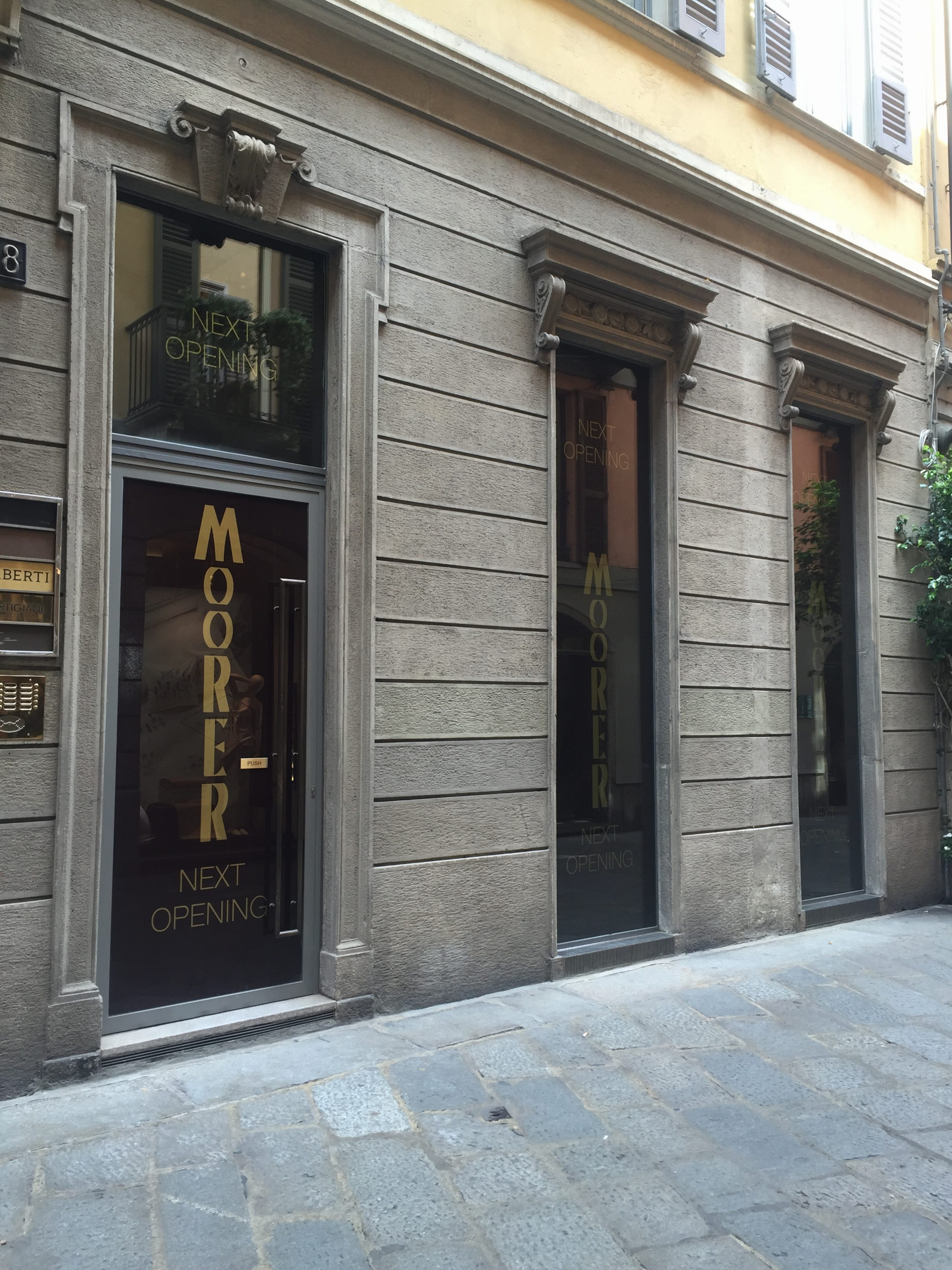 Moorer worldwide Flagship store – A great brand space by Newtone is coming, stay tuned.